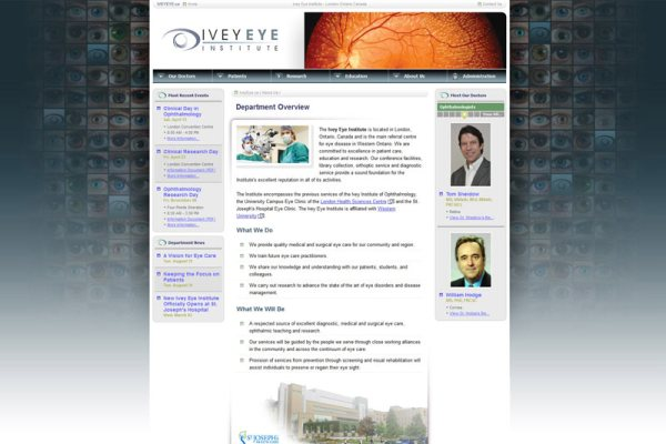 Ivey Eye Institute Website Cover