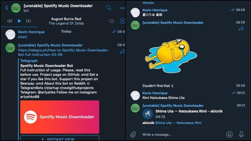 Baixe suas músicas com qualidade usando Telegram