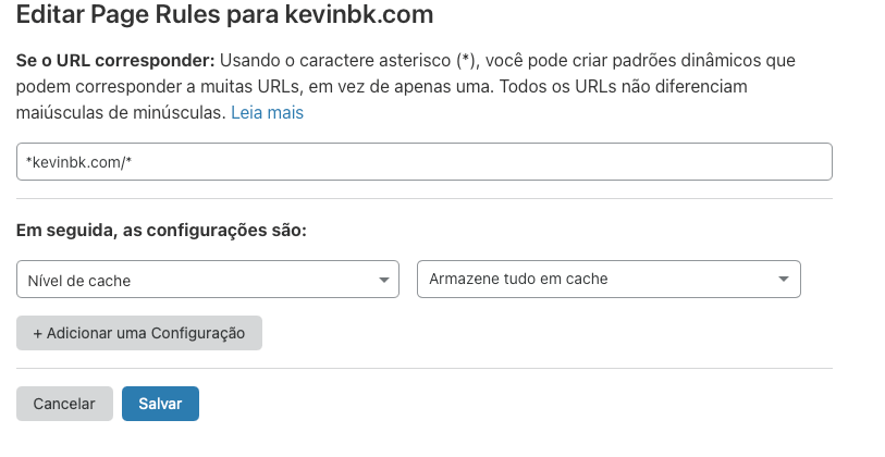 Habilitar el almacenamiento en caché html en cloudflare