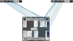 BladeCenter H Diagram with Nexus 5010 (using 10Gb Passthru Modules)