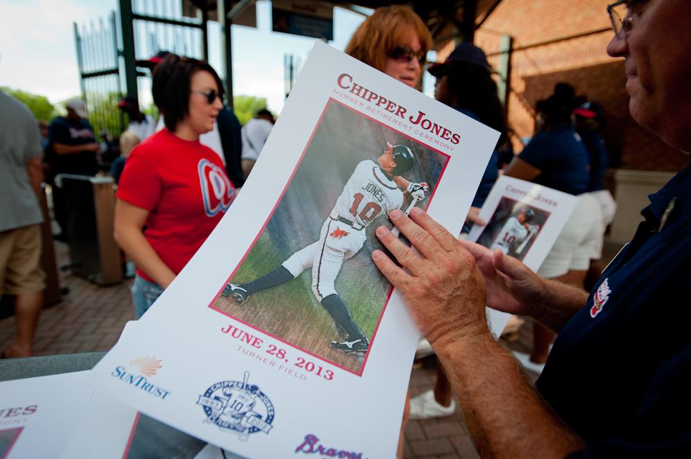 Chipper Jones number retirement ceremony at Turner Field.