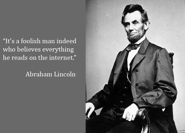 Honest Abe, misinformation and the role of social media.