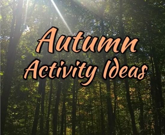 autumn activity ideas title image