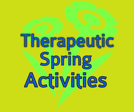 title image for therapeutic spring activities