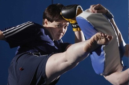 Ruth Davidson kick boxing