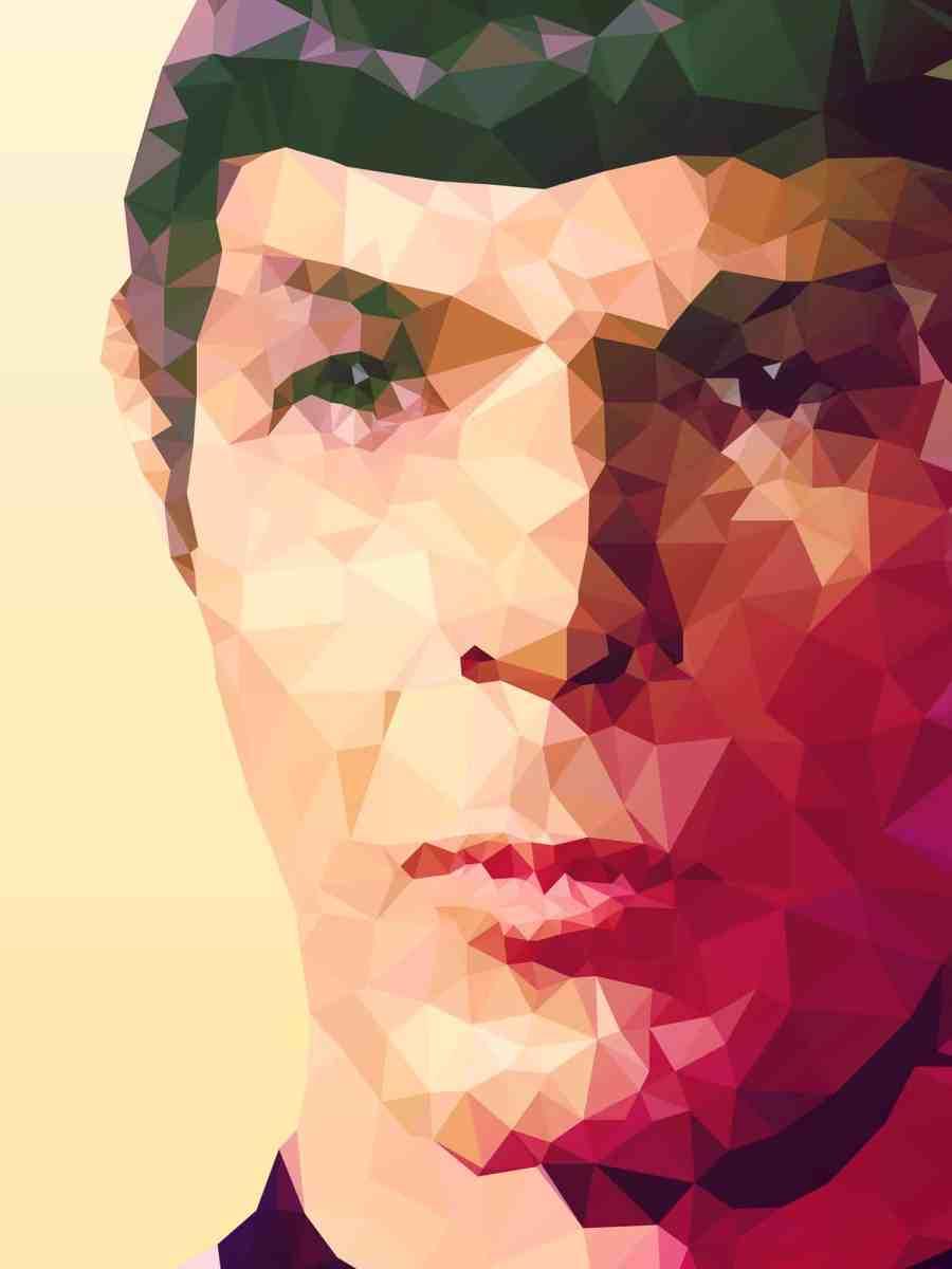 """Live long, prosper"" geometric pop art portrait by Kevin Halfhill"