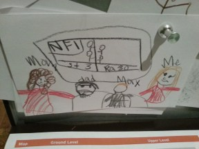 Ella's drawing of our family