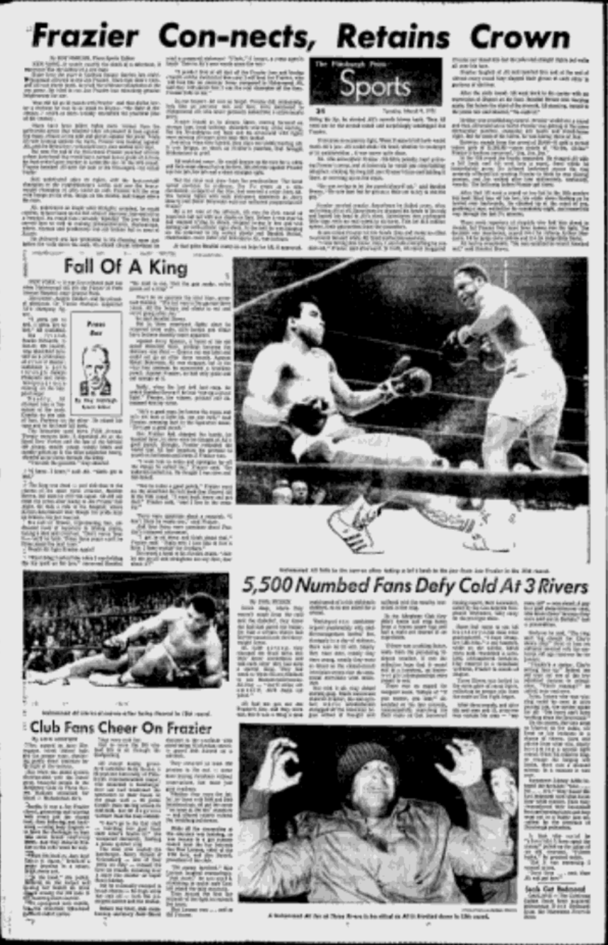 Pittsburgh Press Sports March 9 1971