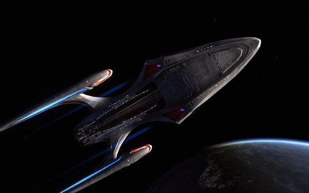 the Aquarius escort- sits and dock in the after compartment of the Odyssey class..