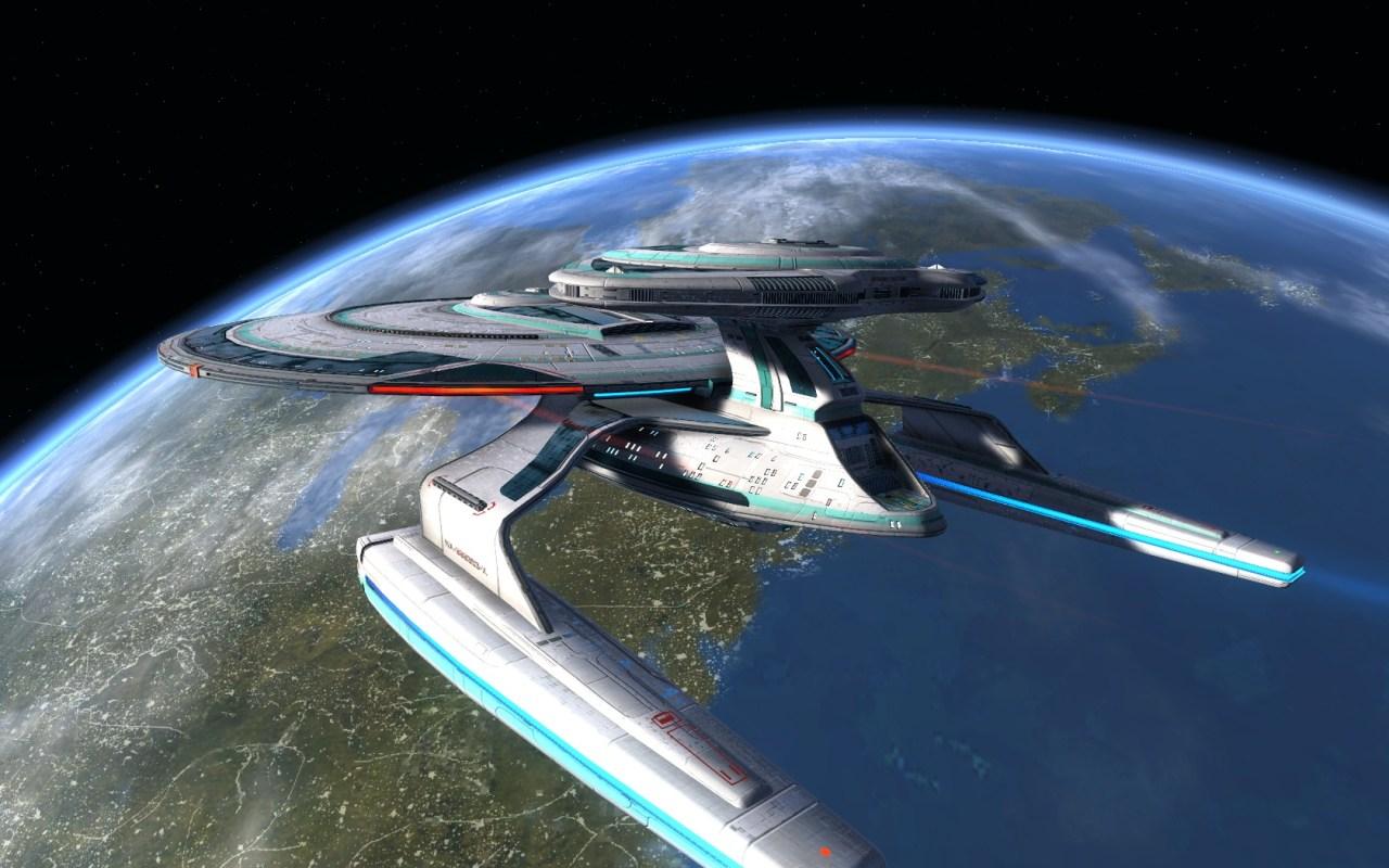 STAR TREK ONLINE- SUTHERLAND CLASS | The Fleet Tier six Sutherland Class – Advance Research vessel – The Daughter of the Nebula Class... Photographer @KevinJamesNg