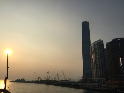 One of the best vantage points of Hong Kong is the China Ferry Terminal of looking inbetween Victoria Harbour of Hong Kong Island also Tsim Sha Tsui..