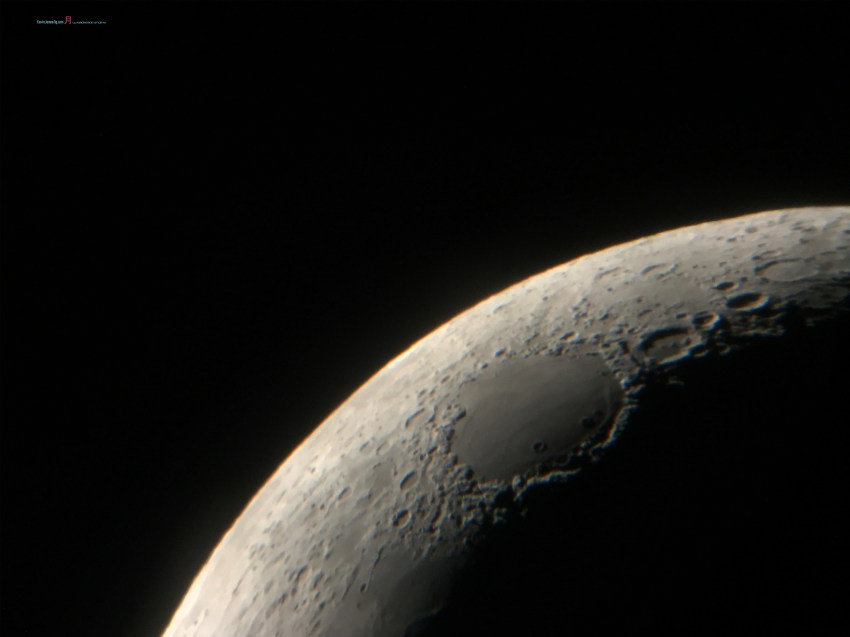 A distance shoot of Mare Crisium with it's cratered lacy embroidery.....