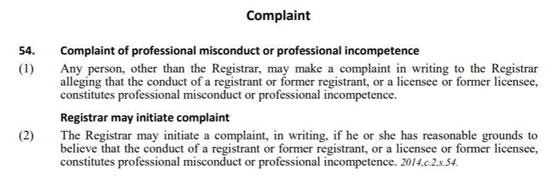 Registrar for ICA