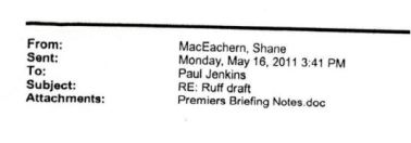 Premier's Briefing Notes