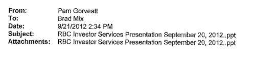 September 20, 2012 Presentation