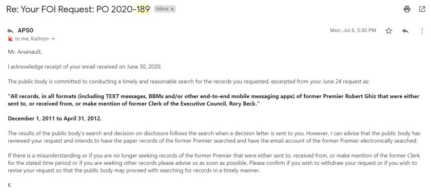 July 6 email from Kathyrn Dickson