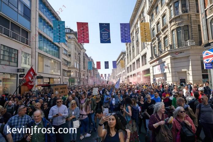24 April 2021. Lockdown Protest.