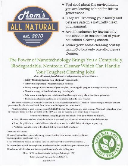 Moms All Natural Flyer2 / www.kevinkatzenberg.com
