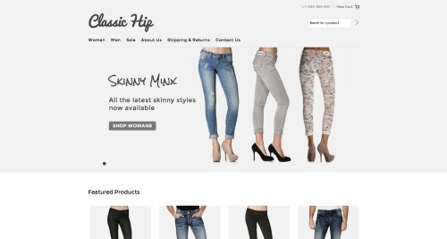 Pic of header of the Classic Hip theme by BigCommerce