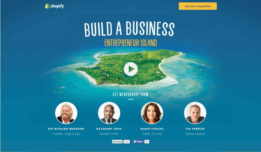Shopify Build A Business Entrepreneur Island