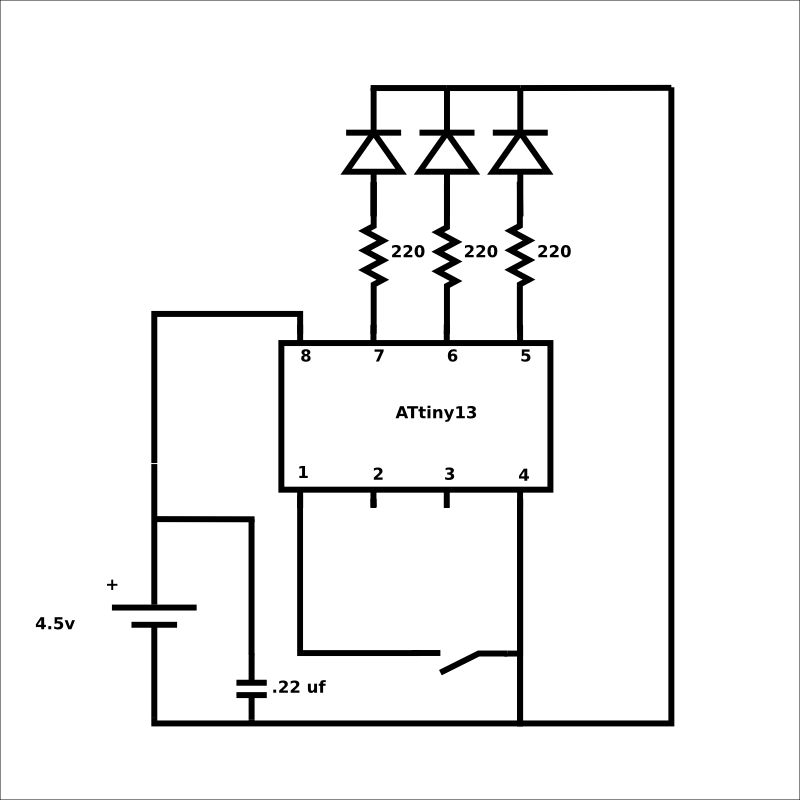rgb color changing led circuit upon power on electrical