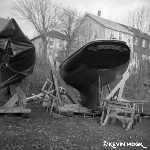The Nimble in dry dock