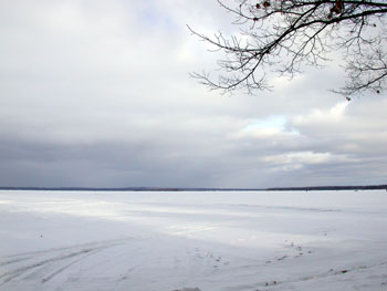 image of Higgins Lake late Jan. 03
