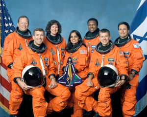 STS-107 Shuttle Columbia Crew