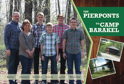 The Pierpont Family to Camp Barakel