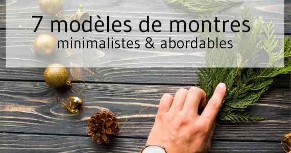 Idées cadeaux pour Noël, montres minimalistes