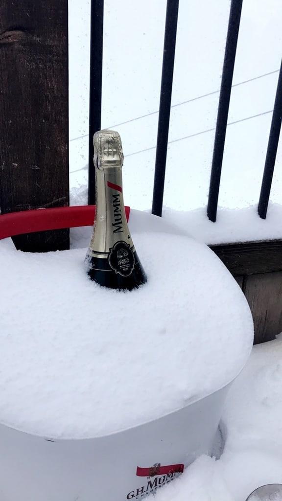 Champagne Mumm à la Folie Douce Alpe d'Huez