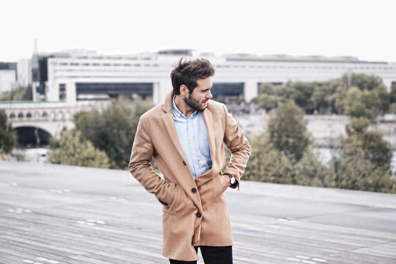 kevin ragonneau Look manteau homme camel