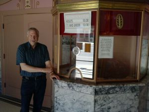 Ticket booth at Rialto Theater in Deer Lodge, Montana