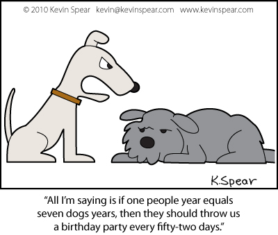 Cartoon of two dogs