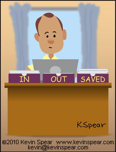 Cartoon of a pastor's office