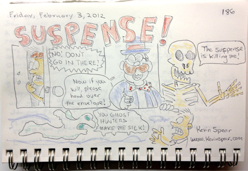 Sketch of what suspense means to me.