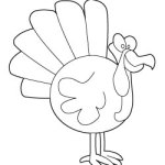 Thumbnail for Turkey coloring page