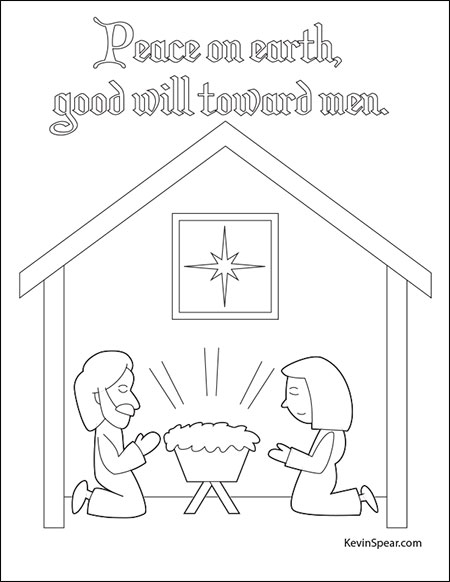 Thumbnail of Christmas nativity coloring page