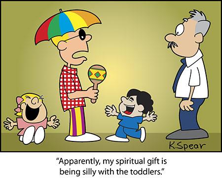 Cartoon of teacher in silly clothes