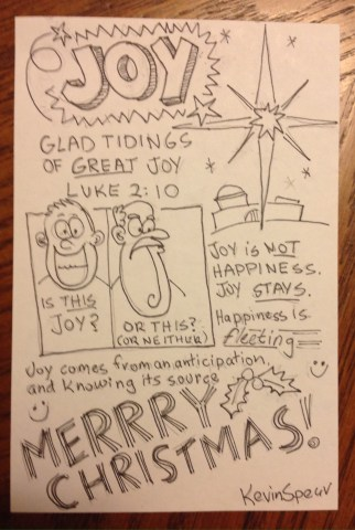 Sketch note based on Luke 2:10 and the concept of joy