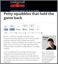 Peter Long is back...and he is not happy! http://www.themalaymailonline.com/opinion/peter-long/article/petty-squabbles-that-hold-the-game-back