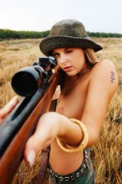 Home grown cow girl. Knows how to handle a gun