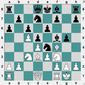 69th ch-RUS HL Kolomna 2016.6.22 Khismatullin, Denis--Cherniaev, Alexander. Position after 9 moves, Black having played the rash 9...g5?!. How does White refute this move?