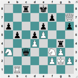 11th Edmonton GM 2016.6.18 Shirov, Alexei--Wang, Richard Black had just played 21...Qc3, snaring the White Knight on a3. WHITE TO PLAY AND CRUSH!