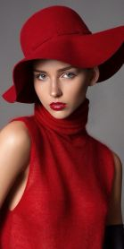 RACHEL COOK BY ROBERT VOLTAIRE, Gorgeous Red Hat