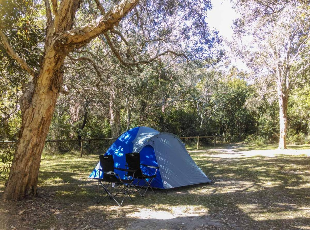 Camping at Kylies Hut Walk-in Campground, Crowdy Bay National Park (Photo Credit: Jenni)