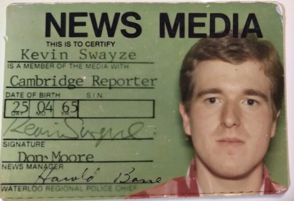 Kevin Swayze media card 1987