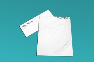 enCompass business stationery