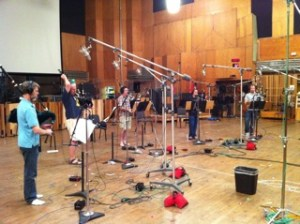 Recording for the movie, Battleship