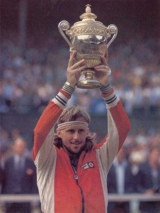 Bjorn Borg after winning his 5th Wimbledon